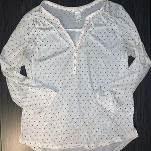 H&M Conscious 3/4 Sleeve Work Shirt